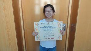 Nuestra alumna Zenhua Ye, premiada en el XXI Concurso Primavera de Matemáticas.