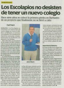 ¿No?: Jesús Elizari, Provincial Escolapios Emaús, habla sobre el futuro de nuestro colegio.