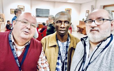 Encuentros para religiosos «Edades intermedias». Bienvenida a Jean de Dieu Ehemba.