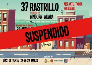 SUSPENDIDO EL RASTRILLO SOLIDARIO