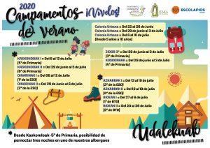 COLONIAS URBANAS Y CAMPAMENTOS DEL MOVIMIENTO CALASANZ DEL 22 DE JUNIO AL 26 DE JULIO