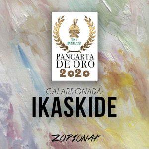La Peña Anaitasuna premia a Ikaskide con la Pancarta de Oro.