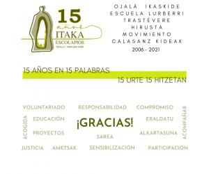 Hoy cumplimos 15 años de andadura en Navarra