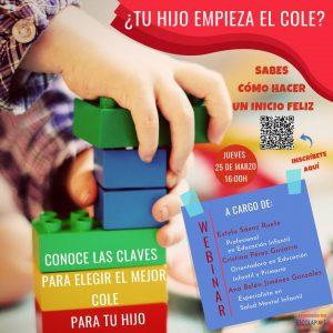 WEBINAR PARA ELEGIR EL MEJOR COLE PARA TU HIJO/A