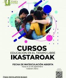 CURSOS DE EDUCACIÓN EN EL TIEMPO LIBRE EN BILBAO (CURSO 2021-22)